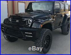 07-18 Jeep Wrangler JKU Full Body Kit Front Bumper, Fenders Flares & Side Molding