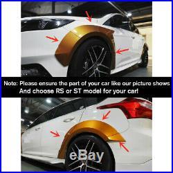 10Pc Primer Fender Flare Kit Wheel Arch Cover Trim For Ford Focus RS ST