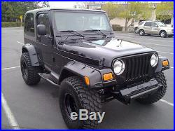 1997-2006 Jeep Wrangler & Unlimited 6 Wide Pocket Fender Flares (six piece kit)