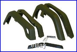 1997-2006 Wrangler 6 Piece 3 3/4 Inch Black Textured Fender Flares Hardware Kit