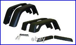 1997-2006 Wrangler 6 Piece 6 5/8 Inch Black Textured Fender Flares Hardware Kit