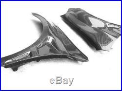 1Pair Carbon Fibre Fender Flares Body kits For Volkswagen VW Golf 6 MK6 10-13