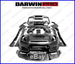 2008-2016 GTR R35 BSP Style Full Wide Body Kit Bumper Hood/Fender Flares/Spoiler