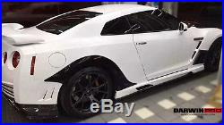 2008-2016 R35 GTR Carbon Fiber Rear Wheel Fender Flares For Nissan GTR Body Kit