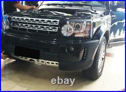 2PCS Front Bumper Splitters Body Kit With LED Fit for Land Rover LR4 2010-2013