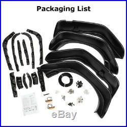 4Pcs Fender Flares Black Texture Kits For Jeep Wrangler JK Flat Style 2007-2017