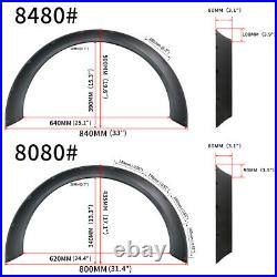 4Pcs Universal Fender Flares 800mm+840mm Wide Body Kit Wheel Arches P//