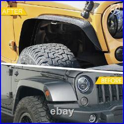 4 Pack Front & Rear Side Fender Flares Kit for 07-18 Jeep Wrangler JK Unlimited