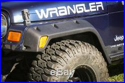 4 Piece All Terrain Fender Flare Kit for Jeep Wrangler TJ 1997 391163020 Outland