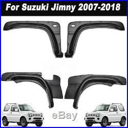 4 x Fender Flare Kit Set For Suzuki Jimny 2007-2018 Wheel Arch Cover Black
