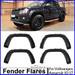 4pcs Wheel Arches Smooth Fender Flares Kit For Volkswagen VW Amarok 10-17