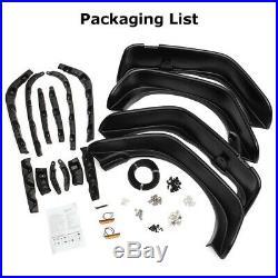 4x Car Fender Flares Black Texture Kit For 2007-2017 Jeep Wrangler JK Flat Style