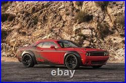 AVS Black 4 Piece Fender Flare Kit Fits 2007-2019 Dodge Challenger