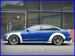 Audi A6 S6 Full Wide Body Kit Spolier Side Skirt Front Lip Diffuser Fender Flare