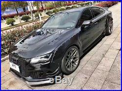Audi A7 S7 MB Stil Breite Karosserie Kit Vordere Luft Messer Fender Flares