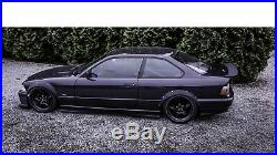 BMW E36 2-doors wide body kit. ABS plastic fender flares set. Wheel arches