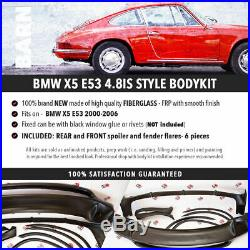 BMW X5 E53 4.8is style BODY KIT front rear spoiler fender flares 2003-2006