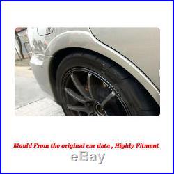 Black PU Side Wheel Arch Fender Flares Trim Kit Fit for Subaru Impreza WRX 02-09