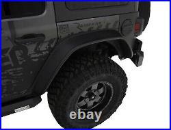 Bushwacker Body Gear 10923-07 Flat-Style Fender Flare Kit 2018 Jeep Wrangler JL