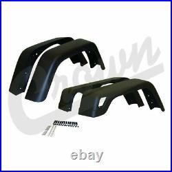 Crown Black Plastic Fender Flare Kit 4 Piece-Wide for 1997-2006 Jeep Wrangler TJ
