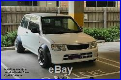 Daihatsu Cuore Fender Flares JDM wide body kit wheel arch 50mm 2.0 4pcs set