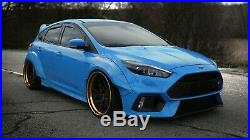 FORD FOCUS WIDE BODY KIT 2012+ MK3 FRONT REAR FENDER FLARES RB STYLE Lightweight