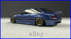 FRP PD RB Style Front & Rear Over Fender Flare Kit For 92-99 BMW E36 M3 Coupe