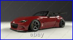 FRP Rear Over Fender Flare Kit For 16-18 Mazda MX5 Miata ND RB PD Style +80mm