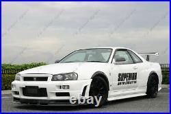 FRP Rear Over Fender Flare Kit For 1999-2002 Nissan Skyline R34 GTR NSM Style