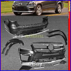 F R Bumper Fender Flares Body 13-16 GL X166 GL63 AMG Style Complete Kit Exhaust