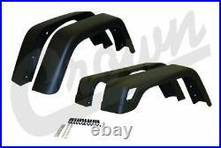 Fender Flare Kit 6-5/8 Wide Fits Jeep 1997 To 2006 TJ Wrangler Cr 55254918K7