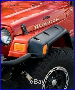 Fender Flare Kit 6 Pc Set All Terrain Rivet Style Jeep Wrangler Tj And Hardware
