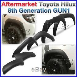 Fender Flare Kit Black For Toyota Hilux 2015-2019 GUN1 Flares TRD Wheel Arch 2G