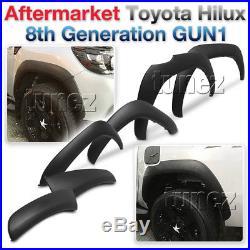 Fender Flare Kit Black For Toyota Hilux 2015-ON GUN1 Flares TRD Wheel Arch ET