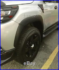 Fender Flare Kit Black For Toyota Hilux 2015-ON GUN1 Flares TRD Wheel Arch KT