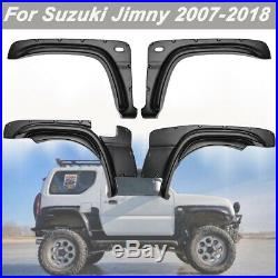 Fender Flare Kit Set For Suzuki Jimny Wheel Arch Cover 2007-2018 Black ABS 4PCS