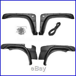 Fender Flare Kit Set For Suzuki Jimny Wheel Arch Cover 2007-2018 Black ABS 4PCS