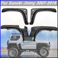 Fender Flare Kit Set For Suzuki Jimny Wheel Arch Cover 2007-2018 Black ABS p V
