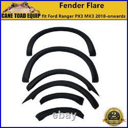 Fender Flare Kit Slim Matte Black Guard Trim Fits Ford Ranger PX3 MK3 2018-2021