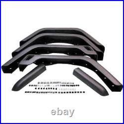 Fender Flare Kit for 97-06 Jeep Wrangler with side extension all 4 fenders PAIRS
