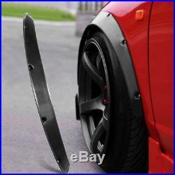 Fender Flares Flexible Durable Polyurethane 10cm Universal Fitment Car Body Kits