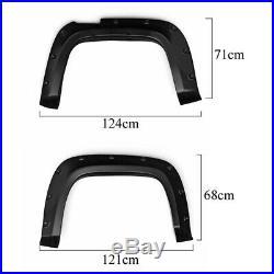Fender Flares Glatt Kotflügelverbreiterung Kit für Volkswagen Amarok 10-17