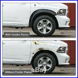 Fender Flares Kit Para 2009-2018 Dodge Ram 1500, 2019 Ram 1500 Classic Excluir