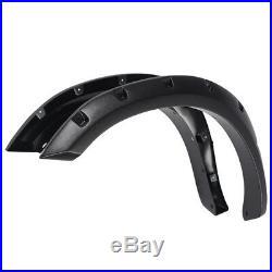 Fender Flares Kit Wheel Cover Protector Trim Black For 2009-2016 DODGE RAM 1500