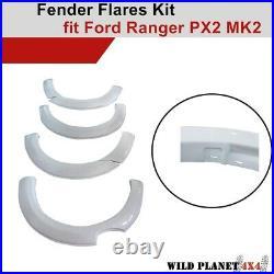 Fender Flares Kit White Smooth Finish fit Ford Ranger PX2 MK2 2015-2018 OEM Desi