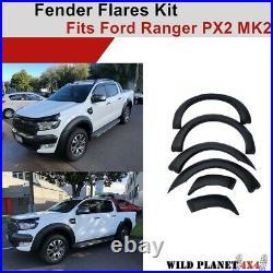 Fender Flares Kit fit Ford Ranger PX2 MK2 2015-2019 Matte Black guard OEM Design