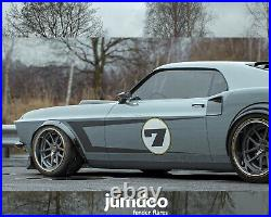 Fender Flares for Ford Mustang 1965-1973 body kit wheel arch ABS 2.0+3.5 4pcs