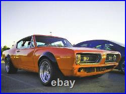 Fender Flares for Plymouth Cuda JDM wide body kit ABS Barracuda 2.0+3.54pcs KL