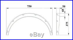 Fender Flares for Subaru Impreza GD, GG wide body kit wheel arch 2 inch plastic