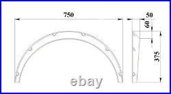 Fender Flares for Subaru Legacy BD/BG/BK widebody kit wheel arch 2 inch plastic